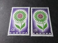 FRANCE 1964, VARIETE' COULEURS, timbre 1431 EUROPA, neuf** MNH STAMP