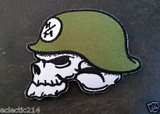"PATCH CLOTH EMBROIDERED ""SKULL"" ROCKABILLY GOTHIC  MOTORCYCLE JACKET TATTOO"
