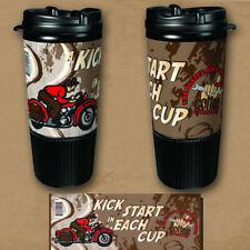 Busted Knuckle Garage Vintage Motorcycle Travel Mugs / Case Lot of 32 / Made USA