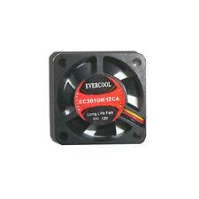 EverCool EC3010M12CA 30x10mm 12V DC Fan, 3Pin