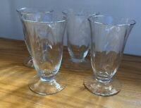 "Cambridge Crystal CAPRICE #300 4 1/8"" Juice Glasses Set of 4"