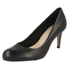 Ladies Clarks Fashion Court Shoes Carlita Cove 4 UK Navy Leather E