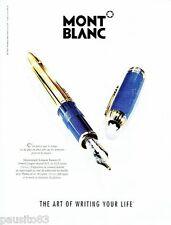 PUBLICITE ADVERTISING 116  1996  Le stylo plume  Ramsés II solitaire Mont Blanc