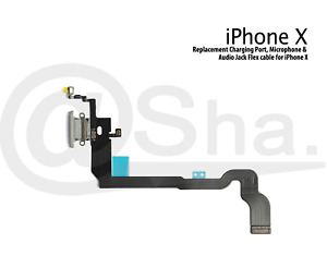Charging Dock Port & Mic & Headphone Jack Flex Cable For iPhone X