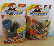Lot of 2 Beyblade BeyRaiderz Rev-Back Launcher Ninja Salamander Pack Hasbro NEW