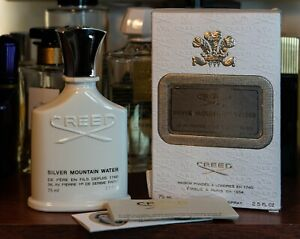 Genuine Creed Silver Mountain Water 75ml 2.5oz Vintage New batch 2015