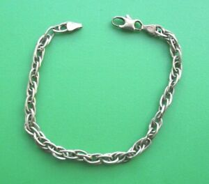 """HALLMARKED 9CT YELLOW GOLD DOUBLE LINK BRACELET 7½"""""""