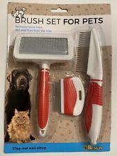 Lot de 3 brosses anti poils & puces spéciales chien et chat Nettoyage