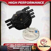 Black Distributor Cap and Rotor For Chevrolet & GMC Trucks V6 4.3L Vortec DR475