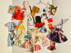 1960s Barbie Midge Fashion Doll Clothes Accessories TLC Lot