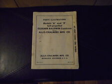 Vintage Allis Chalmers Gleaner Baldwin A & R Combines Part Illustrations manual