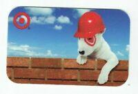 Target Gift Card Bullseye Dog Construction Worker, Hard Hat - 2007 - No Value