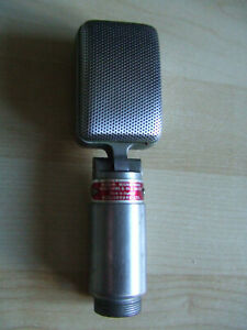 UNTESTED - Reslo Reslosound Ribbon Microphone,30/50 Ohms and HI-Z, Head ONLY