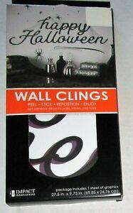 "HALLOWEEN  WALL CLINGS 27.5"" X 9.75"" 1-SHEET OF GRAPHICS,HAPPY HALLOWEEN"