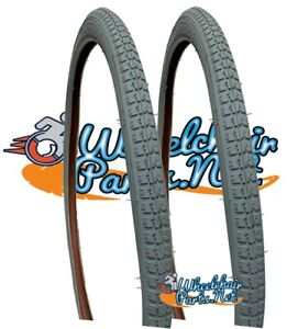 """SET OF 2 PNEUMATIC TIRES, 24"""" x 1 3/8"""" PRIMO WHEELCHAIR TIRES"""