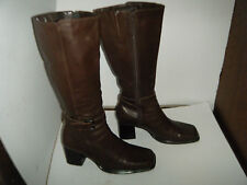 MICHELLE  D Fashion Leather Woman Boots Size 8 M