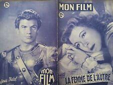 """MON FILM 1949 N 161 """" LA FEMME DE L'AUTRE """"avec GREER GARSON et ROBERT MITCHUM"""