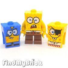 M839 Lego SpongeBob SquarePants Minifigure with 2 Extra Faces 4981 3815 3817 NEW
