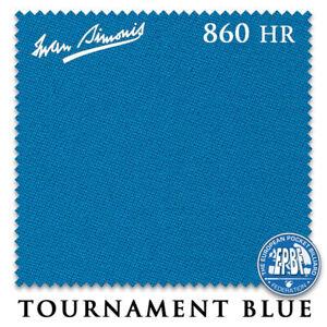 9' Simonis 860HR Pool Table Cloth - Tournament Blue - AUTHORIZED DEALER