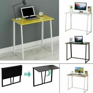 Wooden Foldable Computer Desk Laptop PC Table Home Office Study Simple Small UK