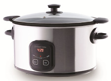 NEW Russell Hobbs 6L Family Searing Slow Cooker 3 Heat Settings RHSC650