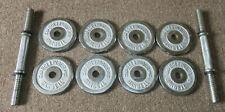 30 Pounds Bollinger Chrome Weights Dumbbells / 8 3lb plates and 2 3 lb Dumbells