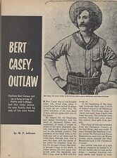 Outlaw Bert Casey shot by one of his own+Perkins,Thomas,Madson,Sheriff Stone