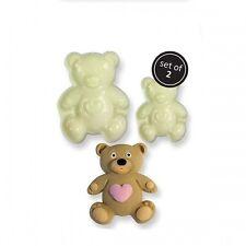 JEM TEDDY BEAR Pop It Cutter Mould Sugar Craft Cake Decorating