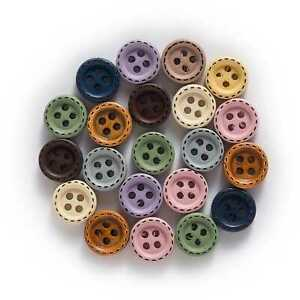100pcs Round Wood Buttons Sewing Scrapbooking Clothing Crafts Handmade Gift 10mm