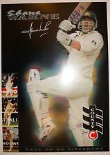 Shane Warne County Cricket Poster Facsimile Signature