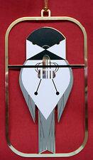 Charlie/ Charley Harper- Brass Christmas Ornament - CHICKADEE CALISTHENICS