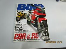 Bike Magazine UK Dec 1998 - Ducati 996 - Monster Dark - Honda Deauville