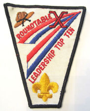Vintage Uniform Patch Boy Scout Round Table Roundtable Leadership Top Ten X