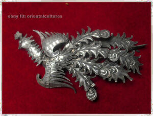 Hair Accessories handmade filigree miao silver phenix headgear hairpin 1piece
