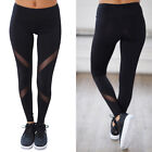 Women High Waist Fitness Yoga Mesh Leggings Sport Gym Running Athletic Pants US1