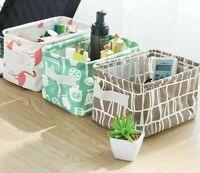 Storage Box Sundries Basket Organizer Home Desktop Linen Desk Cotton Toy Case