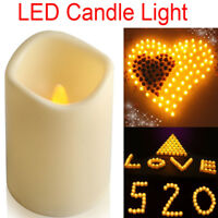 """4.5""""Flickering Flameless Pillar LED Votive Candle Light For Party Christmas US"""