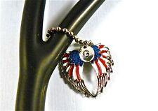 Stethoscope ID tag charm accessory,US American Flag, Military,Veterans,Nurse,DR