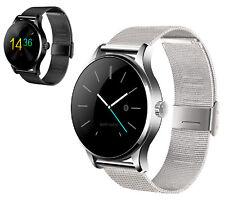 Smartwatch Edelstahl Bluetooth Smartphone Armbanduhr Handy Facebook Whatsapp