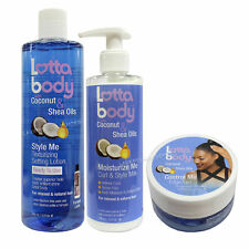 Lottabody with Coconut & Shea Oils Setting Lotion Curl & Style Milk Edge Gel Set