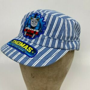 Thomas The Tank Engine Train Hat Adjustable Youth Child Stripped Engineer Cap