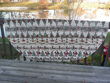 Christmas Tablecloth Santa Snowman Reindeer Tree Oblong