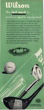 1946 Wilson PRINT AD Vintage Golf Clubs Balls Bag