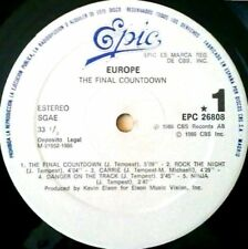 LP - Europe - The Final Countdown (ROCK) SHEET WITH LYRICS+PHOTOS INCLUDED NEW