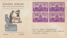 U. S. Scott #896 1st Day Cover, Postmarked July 3, 1940 in Boise, Idaho!