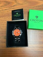 Croton Seadiver Gents 20 ATM Divers Watch Orange