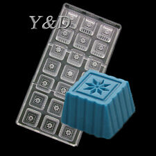 Square Box Plum Snowflakes Flower Hard Polycarboate Mold Chocolate PC Mould