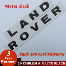 MATTE BLACK 3M LETTERS HOOD OR TRUNK TAILGATE NAMEPLATE Fit For LAND ROVER NEW