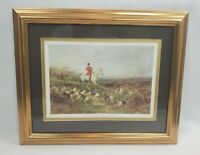 "Vintage Framed/Matted ""The Find"" Heywood Hardy Equestrian Fox Hunt Horse Decor"