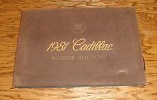 Original 1981 Cadillac Interior Selections Color Fabric Dealer Sales Album 81